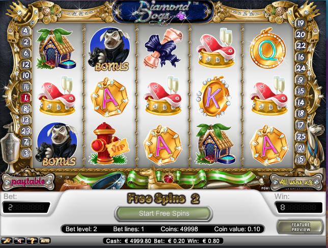 online kolikkopelit Diamond Dogs, Net Entertainment