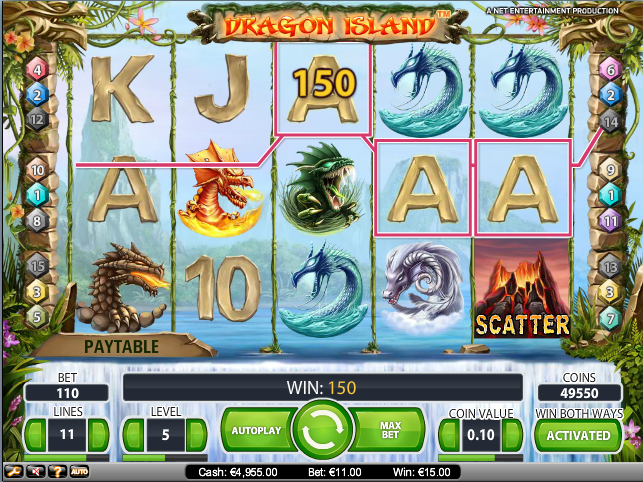 online kolikkopelit Dragon Island, Net Entertainment