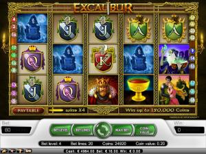 online kolikkopelit Excalibur, Net Entertainment