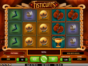 online kolikkopelit Fisticuffs, Net Entertainment