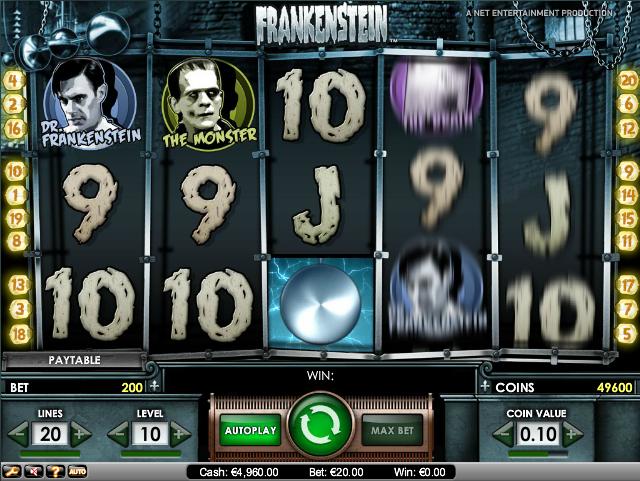 online kolikkopelit Frankenstein, Net Entertainment
