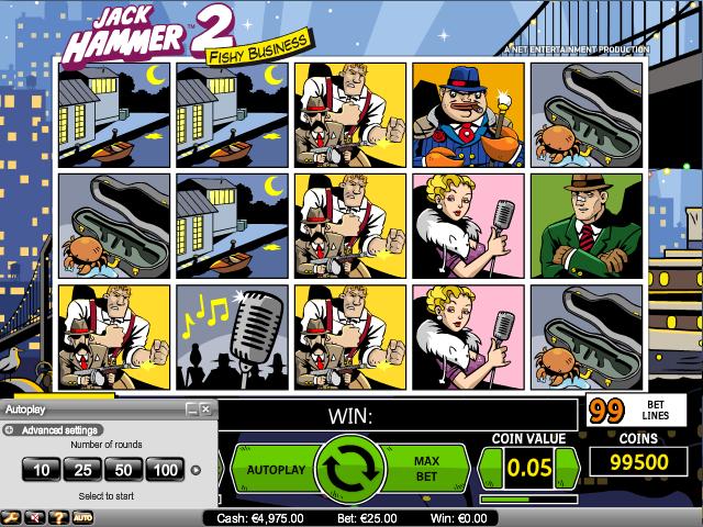 online kolikkopelit Jack Hammer 2, Net Entertainment