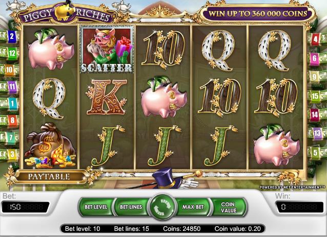 online kolikkopelit Piggy Riches, Net Entertainment