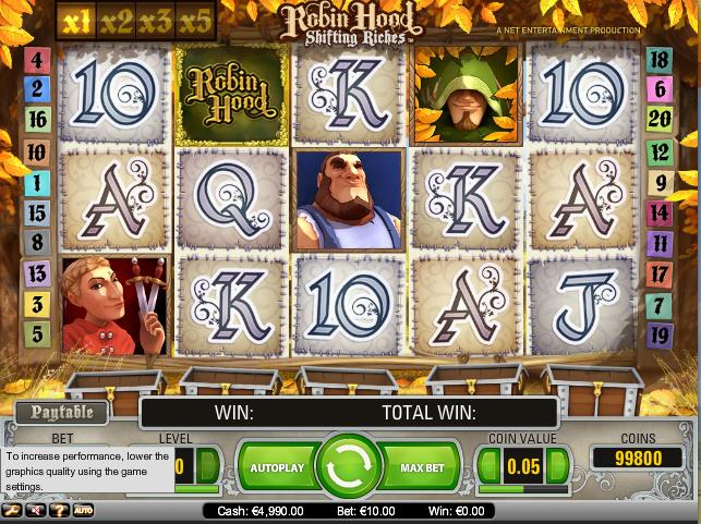 online kolikkopelit Robin Hood, Net Entertainment
