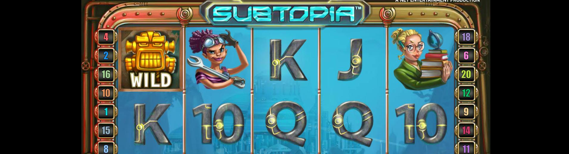 Subtopia netent kolikkopelit toripelit