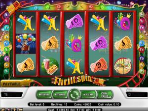 online kolikkopelit Thrill Spin, Net Entertainment