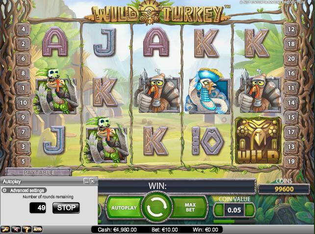 online kolikkopelit Wild Turkey, Net Entertainment