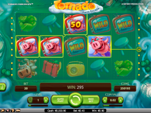 Tornado Farm Escape NetEnt kolikkopelit toripelit screenshot