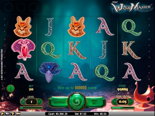 Wish Master NetEnt kolikkopelit toripelit screenshot