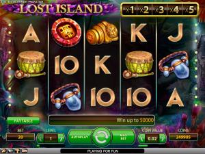 Lost Island NetEnt kolikkopelit toripelit screenshot