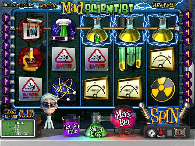 Mad Scientist Betsoft kolikkopelit screenshot