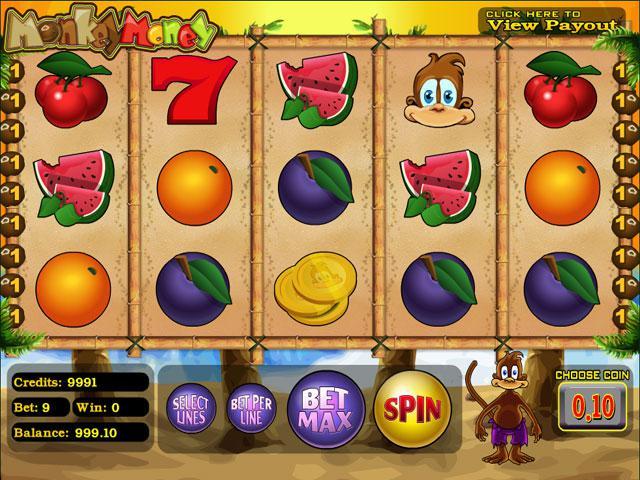 Monkey Money Betsoft kolikkopelit screenshot