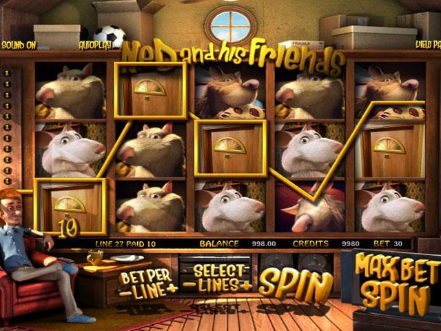 Ned and his Friends Betsoft kolikkopelit screenshot