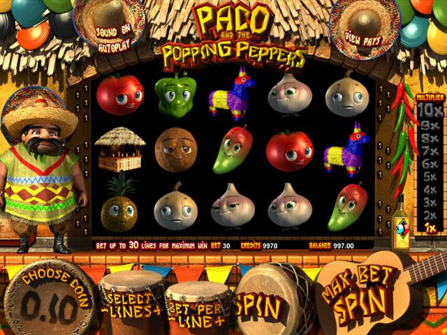 Paco and the Popping Peppers Betsoft kolikkopelit screenshot