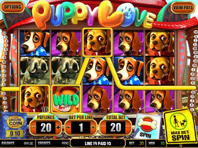 Puppy Love Plus Betsoft kolikkopelit screenshot