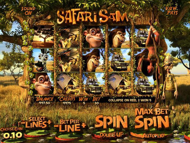 Safari Sam Betsoft kolikkopelit screenshot