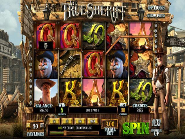 The True Sheriff Betsoft kolikkopelit screenshot