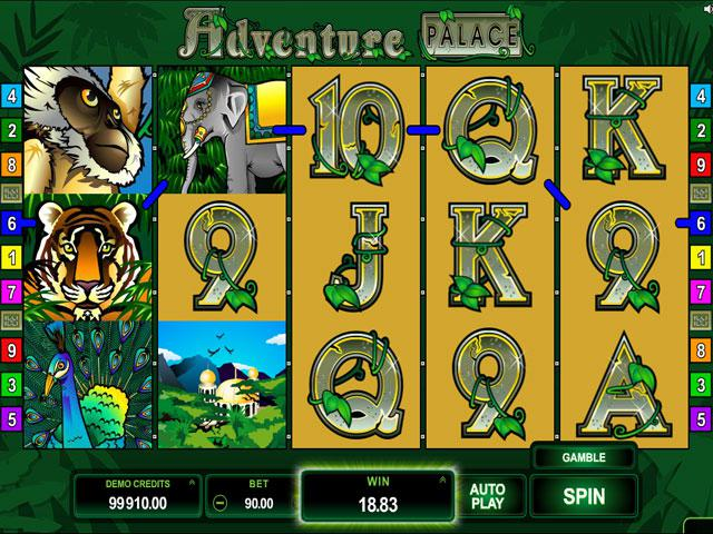 Adventure Palace Microgaming kolikkopelit screenshot