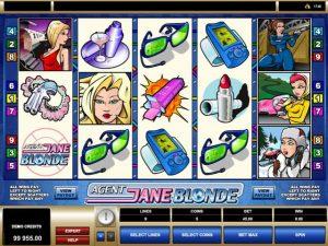 Agent Jane Blonde Microgaming kolikkopelit screenshot