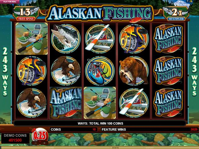 Alaskan Fishing Microgaming kolikkopelit screenshot