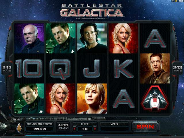 Battlestar Galactica Microgaming kolikkopelit screenshot