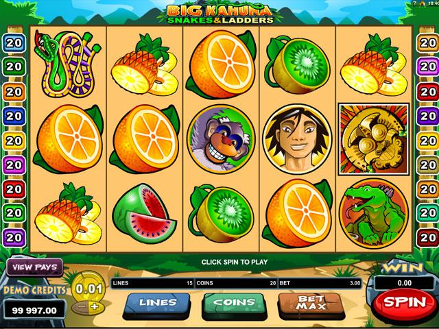 Big Kahuna: Snakes and Ladders Microgaming kolikkopelit screenshot