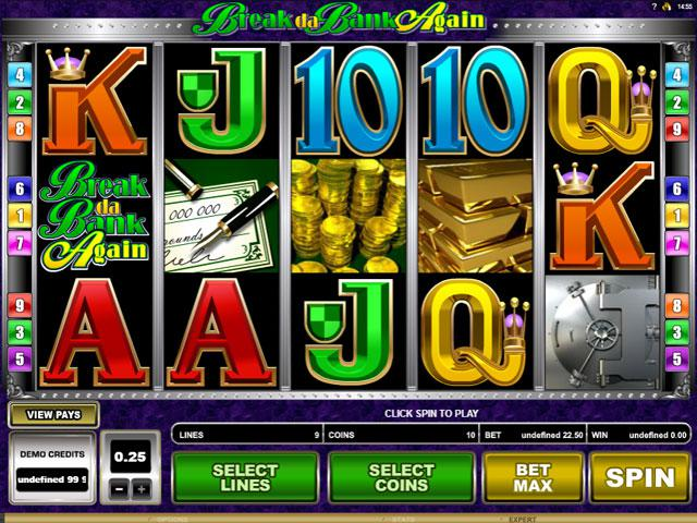 Break da Bank Again Microgaming kolikkopelit screenshot