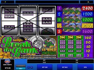 Break da Bank Microgaming kolikkopelit screenshot