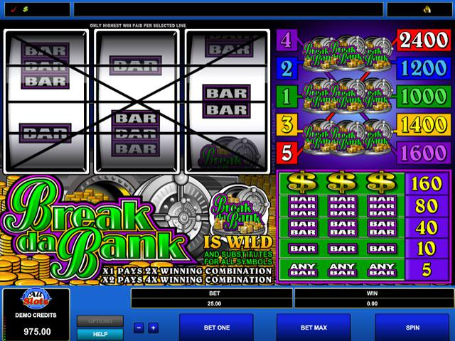 Break da Bank Microgaming kolikkopelit screenshot