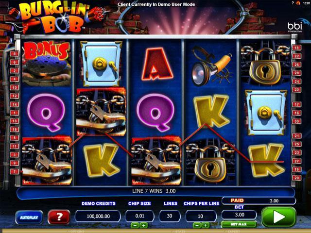 Burglin Bob Microgaming kolikkopelit screenshot