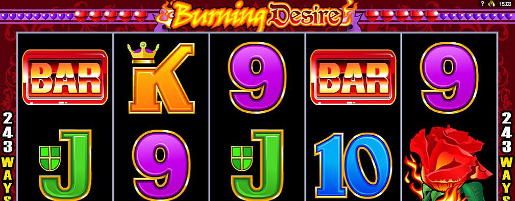 Burning Desire Microgaming kolikkopelit slider