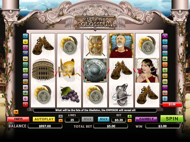 Call of the Colosseum Microgaming kolikkopelit screenshot