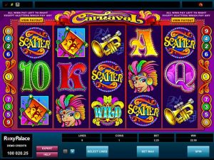 Carnaval Microgaming kolikkopelit screenshot