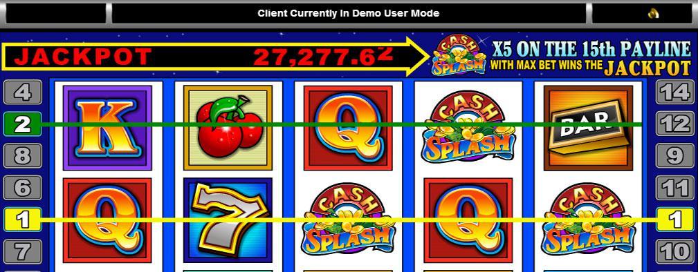 Cash Splash Microgaming kolikkopelit slider