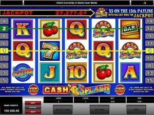 Cash Splash Microgaming kolikkopelit screenshot