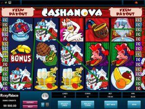 Cashanova Microgaming kolikkopelit screenshot