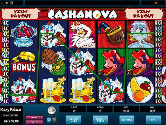 Cashanova Microgaming kolikkopelit screenshot