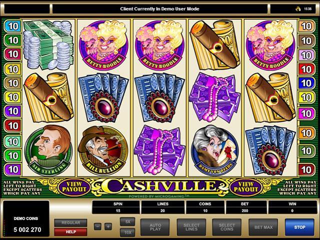 Cashville microgaming kolikkopelit screenshot