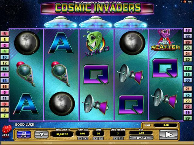 Cosmic Invaders microgaming kolikkopelit screenshot