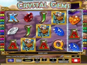 Crystal Gems microgaming kolikkopelit screenshot