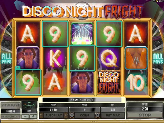 Disco Night Fright microgaming kolikkopelit screenshot