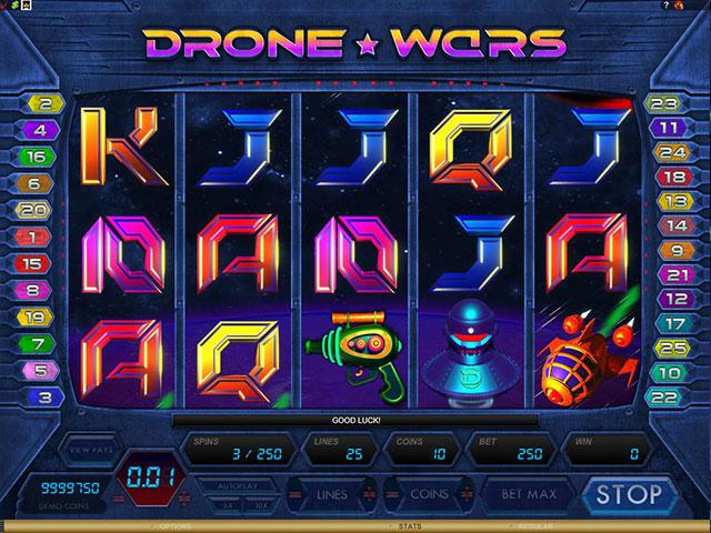Drone Wars microgaming kolikkopelit screenshot