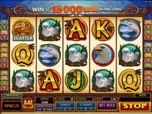 Eagles Wings microgaming kolikkopelit screenshot