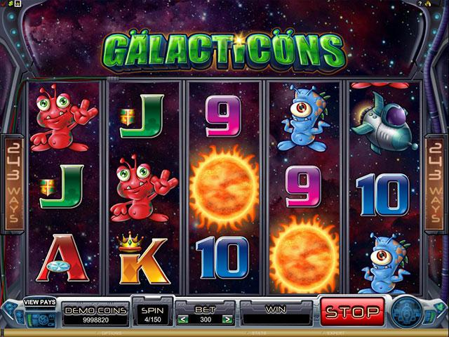 Galacticons microgaming kolikkopelit screenshot