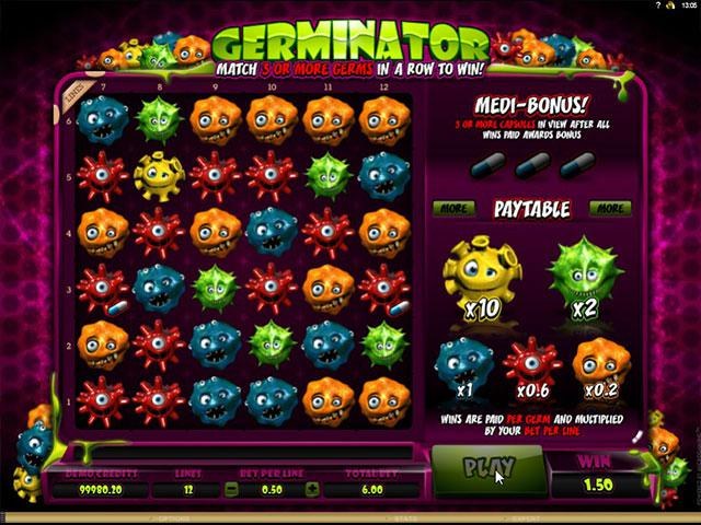 Germinator microgaming kolikkopelit screenshot