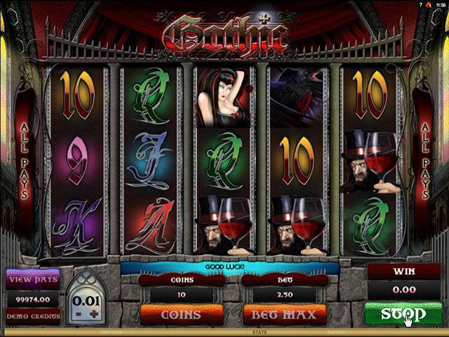 Gothic microgaming kolikkopelit screenshot