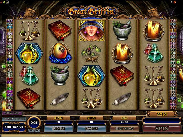 Great Griffin microgaming kolikkopelit screenshot