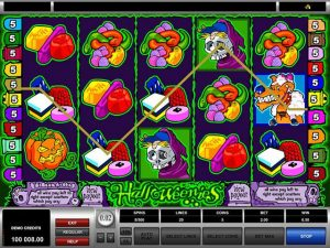 Halloweenies microgaming kolikkopelit screenshot