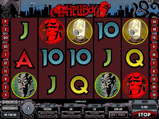 Hellboy microgaming kolikkopelit screenshot