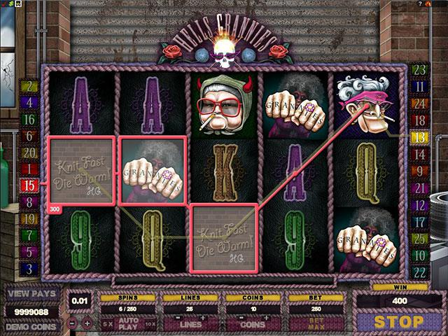 Hells Grannies microgaming kolikkopelit screenshot